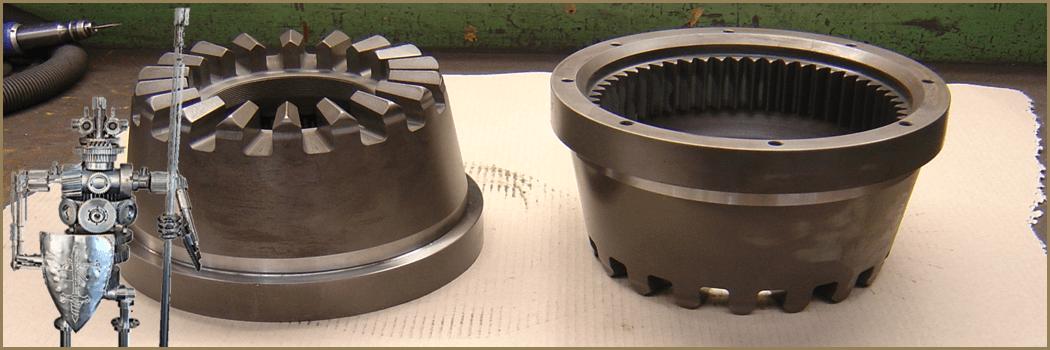 Etalage machineonderdelen